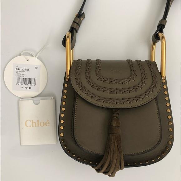071f43ff7d Chloe Bags | Hudson Mini In Merino Grey Calfskin | Poshmark